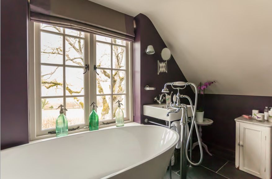 Complete reconfiguration and re-design of master bathroom for Cotswold Holiday Cottage near Cirencester – by Astman Taylor