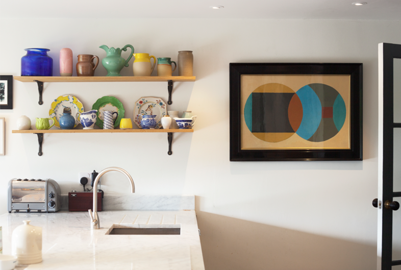Display of client's inspirational ceramics collection and complete re-modelling of kitchen - by Astman Taylor