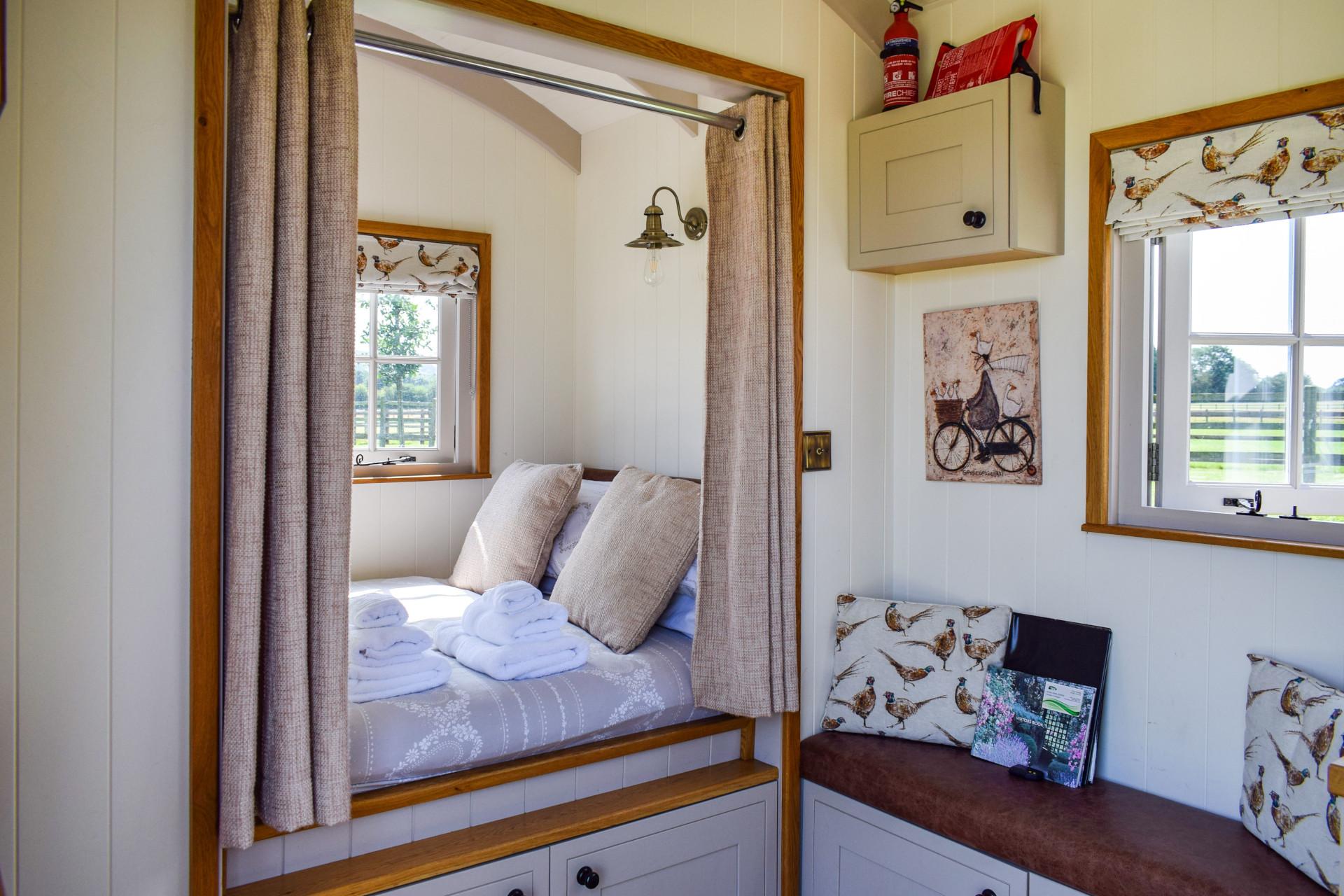 Bedroom, Shepherd's Hut, Bolthole Retreats