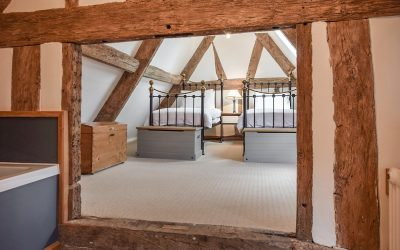 Bedroom, timbers, Mercia House