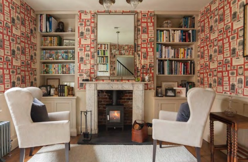 Reading library and home office for Georgian house in Hampshire - by Astman Taylor