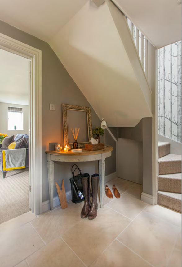 Westerleigh Cottage limestone floor which is perfect for muddy boots - by Astman Taylor